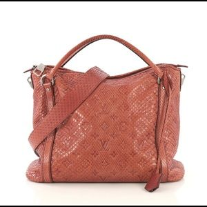 Louis Vuitton Antheia Ixia Handbag Python PM